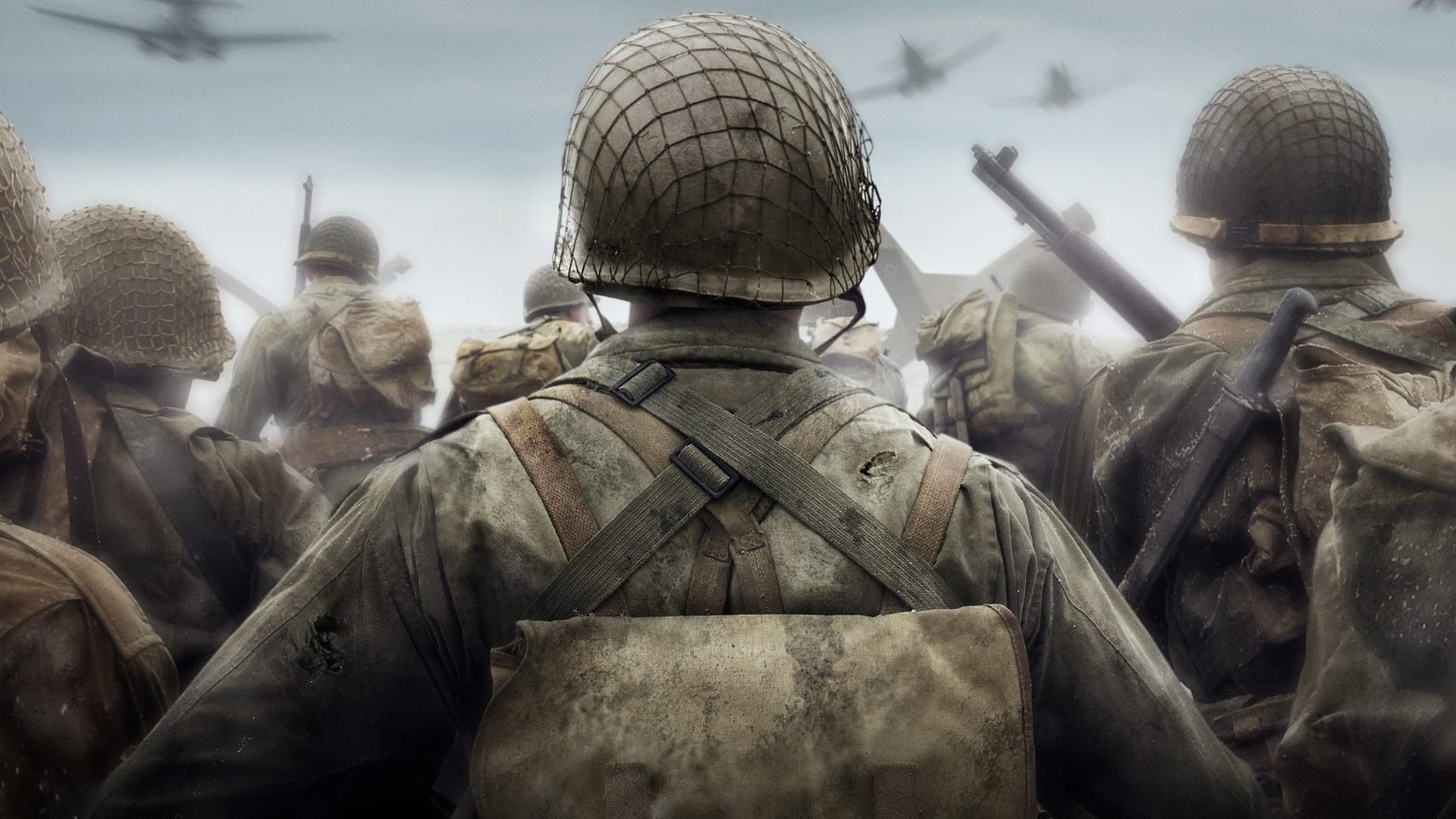 COD WWII Soldier Marching Forward