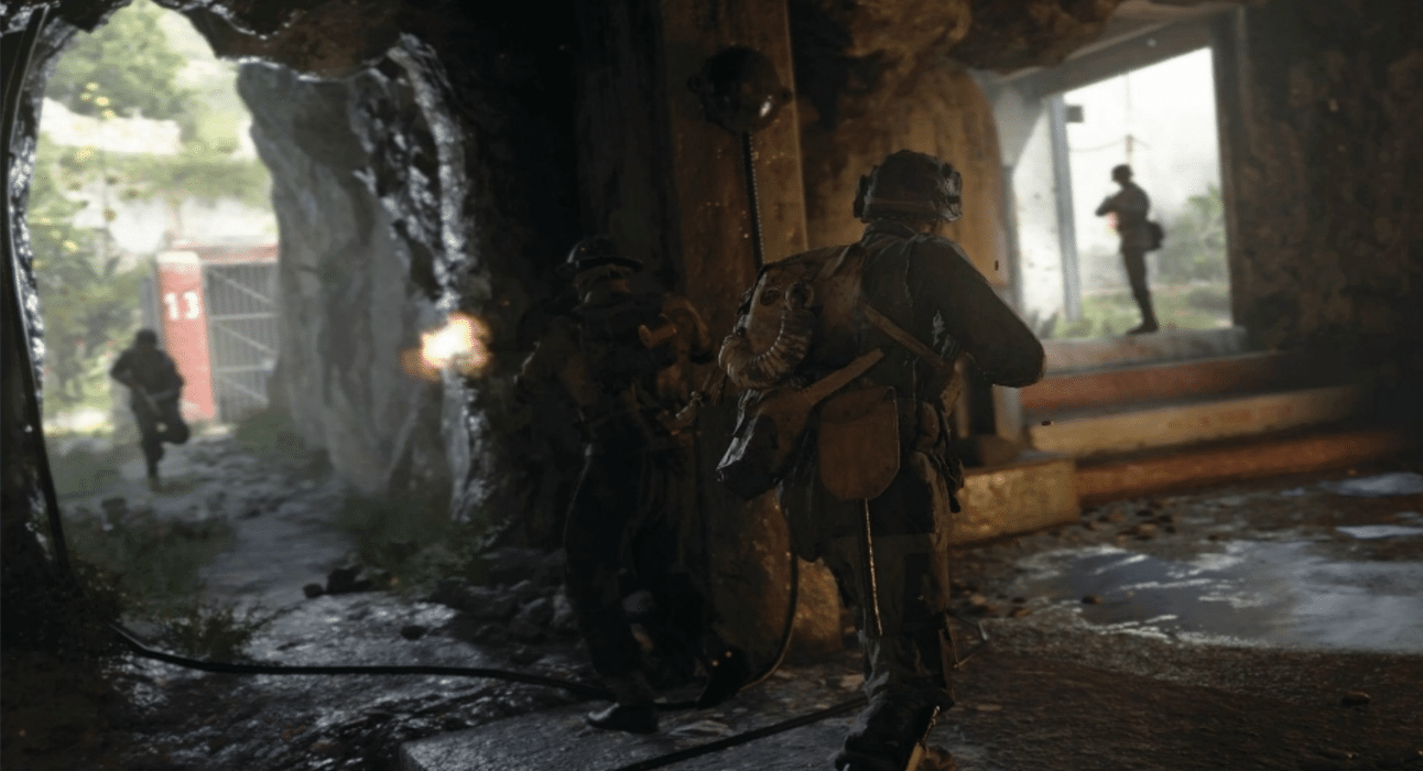 COD WWII Twin Bunkers